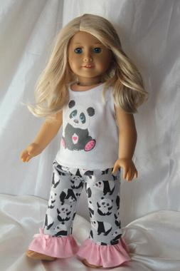 Doll Clothes fits 18inch American Girl Dress Pajamas Hearts