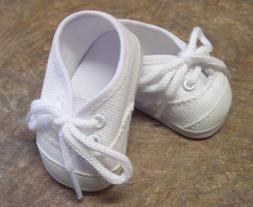 Doll Clothes for 18 inch American Girl - White Canvas Tennis