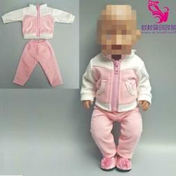 """Doll clothes for 43cm baby dolls jacket clothes for 17"""" 43cm"""