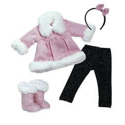 "Adora Amazing Girls 18"" Doll Clothes - Stylish Pink Snowy Wi"