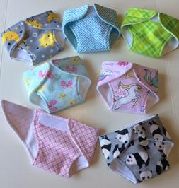 """Handmade Doll Diapers For 15"""" Bitty Baby - 2 layers flannel"""
