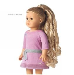 American Girl Doll 'Dos CURLY PONYTAIL BLOND Hair Accessor