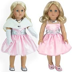 18 Inch Doll Clothes Dress 4 Pc. Set Fits 18 Inch American G