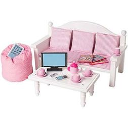 Playtime by Eimmie 18 Inch Doll Furniture - Sofa & Coffee Ta