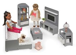 "Doll House Furniture Set Fits 18"" Dolls Girls Toys Pretend P"