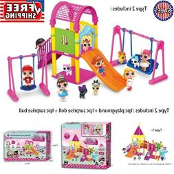 Doll Park House Game Fun Big Slide Playset for LOL Surprise