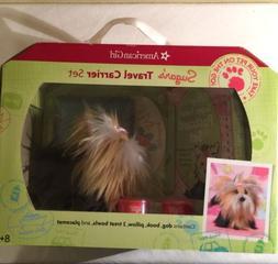 American Girl Doll Pet Dog Sugar's Travel Carrier Set Book P