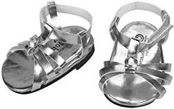 DOLL SHOES - SILVER SANDALS - fits  AMERICAN GIRL DOLL AND M
