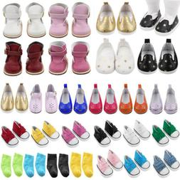 Doll Shoes Socks Accessories For 18 inch American Girl Our G