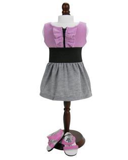 18 Inch Doll Stylish Summer Doll Dress & Matching Doll Sanda