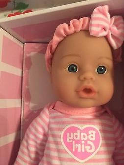 """ADORA DOLL SWEET BABY GIRL SOFT DOLL 11"""" PRETTY IN PINK AND"""