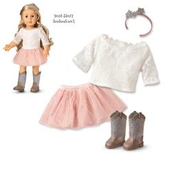 American Girl Doll Tenney Grant Spotlight Western Boots Outf