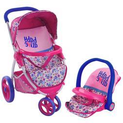 Doll Travel Stroller System Baby Alive Shopping Basket Retra