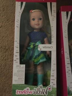 AMERICAN GIRL DOLL Wellie Wishers CAMILLE Blonde -FREE  OVER