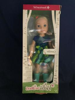 AMERICAN GIRL DOLL Wellie Wishers CAMILLE Blonde Hair Blue E