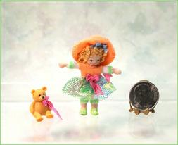 Dollhouse Miniature Ethel Hicks BEACH BABY Angel Children Do