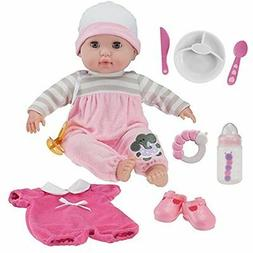 "Dolls Berenguer Boutique 15"" Soft Body Baby - Pink 10 Piece"