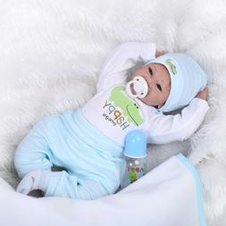 Reborn Baby Dolls Boy Lifelike Newborn Solls Soft Silicone V