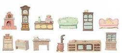Dolls House 12 Piece Furniture Set Mini Miniatures 1:48 Scal