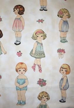 Dolls Sold Separately Paper Doll Fabric Large By Sherri Marq