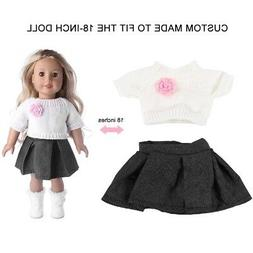 Dolls Stylish Clothes for 18 inch Baby Girl Doll Dress Skirt