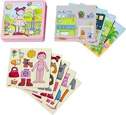 HABA Dress-up Doll Lilli Magnetic Game Box - 54 Magnet Piece