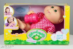 Cabbage Patch Kids Drink n Wet Newborns Pink Green Eyes NIB