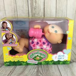 Cabbage Patch Kids Newborns drink n wet baby girl w pink hea