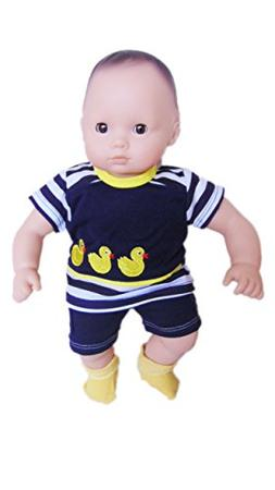 Brittany's My Ducky Shorts Outfit Compatible with Bitty Baby