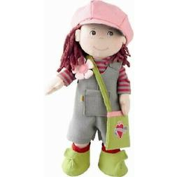 "HABA Elise 12"" Soft Doll with Auburn Hair, Brown Eyes and Co"