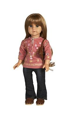 Diana Collection Embroidered Pink Tunic and Jeans. COMPLETE