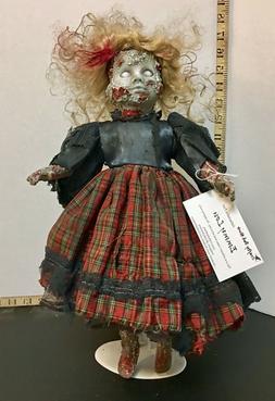 Emmy Lou - creepy porcelain doll, horror zombie art doll, OO