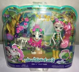 "Mattel Enchantimals 6"" Tadley Tiger & Kitty Dolls Junglewood"