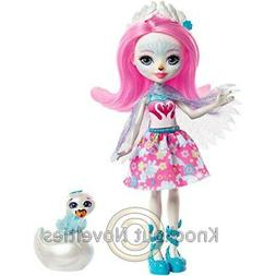 Enchantimals: Saffi Swan Doll And Poise Doll Toy Play Mattel