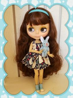Factory Type Neo Blythe Doll Brown Hair - Jointed with Outfi