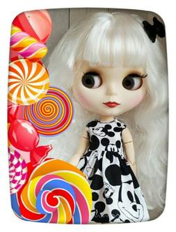 Factory Type Neo Blythe Doll White Hair, Jointed, Custom Out