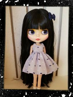Factory Type Neo Blythe Doll Black Hair with Outfit