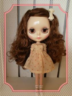 Factory Type Neo Blythe Doll Brown Hair with Outfit
