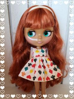 Factory Type Neo Blythe Doll Orange Red Hair with Outfit