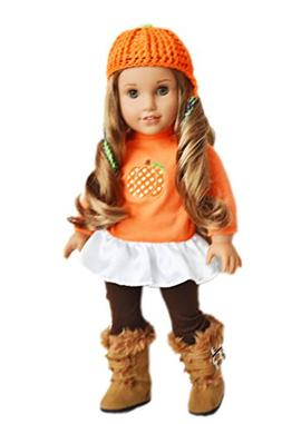 Brittany's My Fall Pumpkin Outfit Compatible with 18 Inch Do