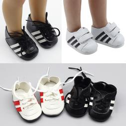 Fashionable white sneakers shoes for <font><b>dolls</b></fon