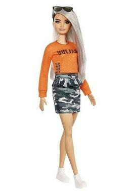 Barbie Fashionista Doll 107 Malibu Camo Kid Toy Gift Trendy