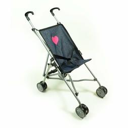 My First Umbrella Doll Stroller in Denim for Toddler New