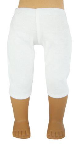 "Fits 18"" American Girl Doll Clothes White Knit Capri Legging"