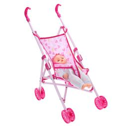 Foldable Baby Buggy Stroller Toy Girl Child Gift Pushchair P