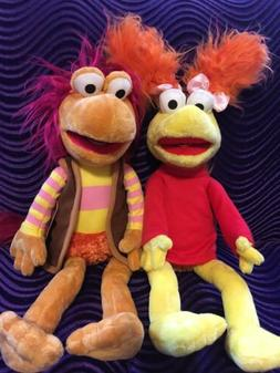 """Fraggle Rock Jim Henson Gobo and Red Plush 15"""" Doll Toy New"""