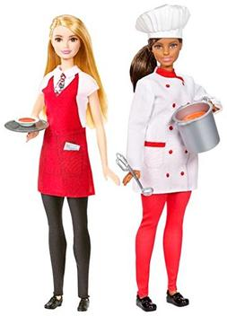 Barbie Friend You Can Be Anything Careers CHEF & WAITER 2 Do