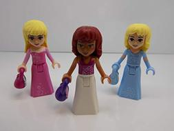 Lego Lot Of 3 Friends Princess Minifigures With Purses