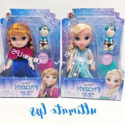Disney Frozen Elsa & Anna Dolls with Olaf Petite Princess 6