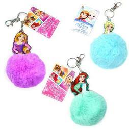Disney Frozen Princess Pom Pom Keychain Perfect For Gift - C